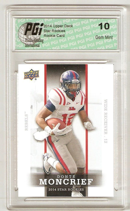 Donte Moncrief 2014 Upper Deck #9 SP Star Rookie Card PGI 10
