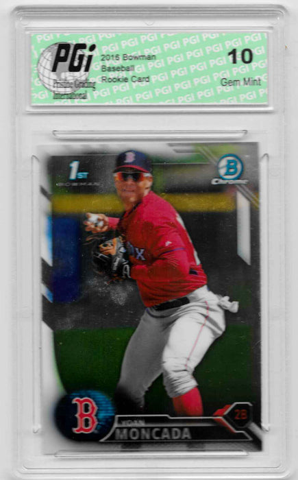 Yoan Moncado 2016 Bowman Chrome #BCP148 Rookie Card PGI 10