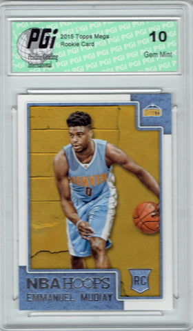 Emmanuel Mudiay 2015 Hoops #294 Rookie Card PGI 10 Nuggets