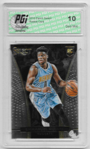 Emmanuel Mudiay 2015 Panini Select Rookie Card #227 PGI 10 Nuggets