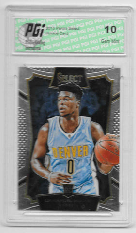 Emmanuel Mudiay 2015 Panini Select Rookie Card #63 PGI 10 Nuggets
