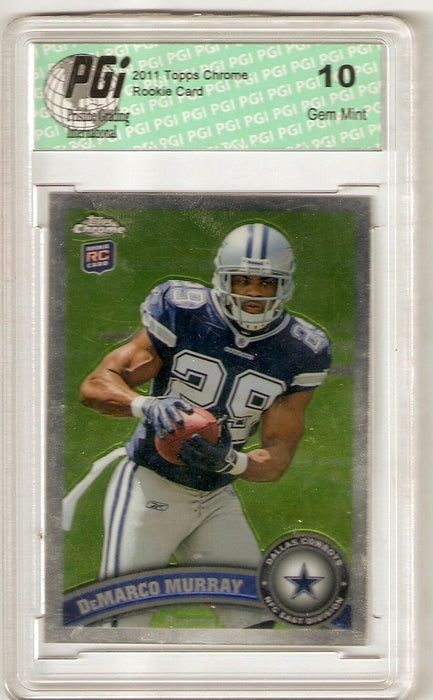 Demarco Murray 2011 Topps Chrome Rookie Card #173 Cowboys PGI 10