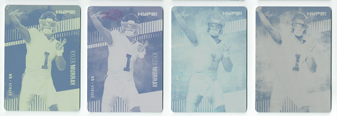 Kyler Murray 2019 Leaf HYPE! All 4) 1 of 1 Rookie Card #22 Printing Plate Lot