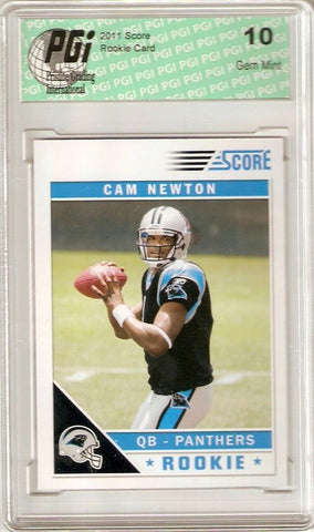 Cam Newton 2011 SCORE Carolina Panthers #1 Rookie Card PGI 10