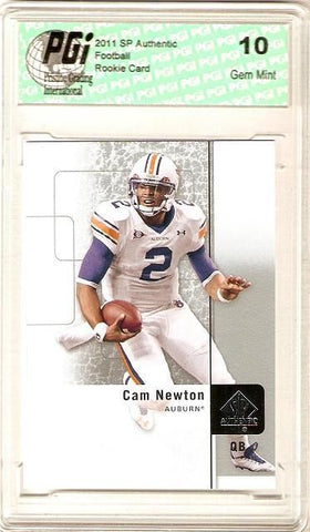 Cam Newton 2011 SP Authentic Upper Deck Panthers Rookie Card PGI 10