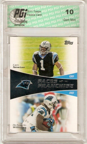 Cam Newton 2011 Topps Faces of the Franchise Panthers Rookie Card PGI 10