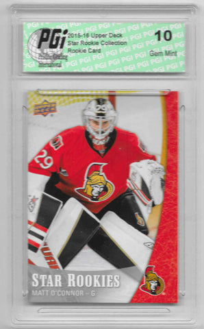 Matt O'Connor 2015-16 Upper Deck Star Rookies #19 Rookie Card PGI 10