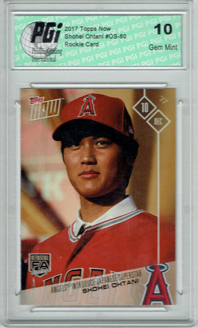 Shohei Ohtani 2017 Topps Now #OS-80 Otani SP Only 17k Made Rookie Card PGI 10
