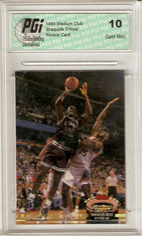 Shaquille O'Neal 1993 Stadium Club #201 Members Only Rookie Card Shaq PGI 10