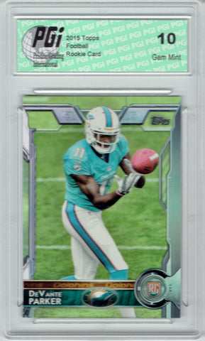 DeVante Parker 2015 Topps Football #391 Miami Dolphins Rookie Card PGI 10