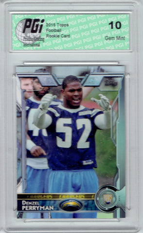 Denzel Perryman 2015 Topps Football #487 Los Angeles Chargers Rookie Card PGI 10