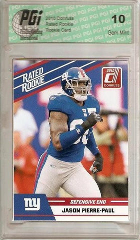 Jason Pierre-Paul 2010 Donruss Rated Rookie Card PGI 10