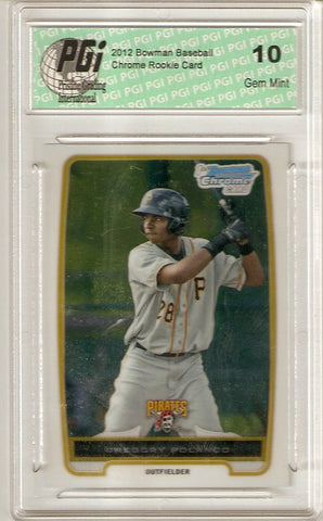 Gregory Polanco 2012 Bowman Chrome #BCP182 1st Rookie Card Ever PGI 10