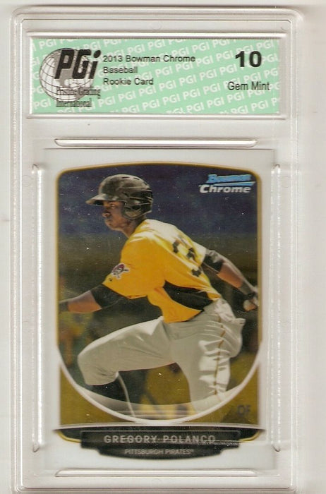 Gregory Polanco 2013 Bowman Chrome #TP-38 Rookie Card PGI 10