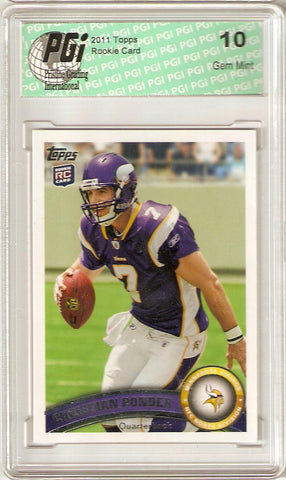 Christian Ponder Vikings 2011 Topps Rookie Card PGI 10