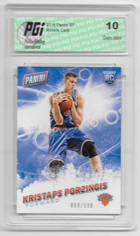 Kristaps Porzingis 2016 Panini SP #59 SP, 599 Made Rookie Card PGI 10