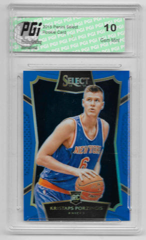 Kristaps Porzingis 2015 Select Blue Refractor Rookie Card Only 249 Made