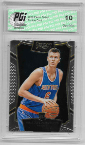 Kristaps Porzingis 2015 Panini Select Rookie Card #17 PGI 10 Knicks