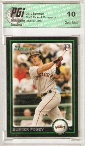 Buster Posey 2010 Bowman Draft #61 Rookie Card PGI 10