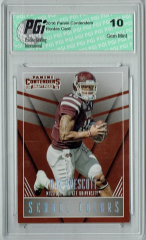 Dak Prescott 2016 Panini Contenders #16 School Colors Rookie Card PGI 10
