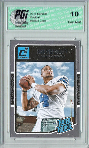 Dak Prescott 2016 Donruss Rated Rookie #362 SP Rookie Card PGI 10