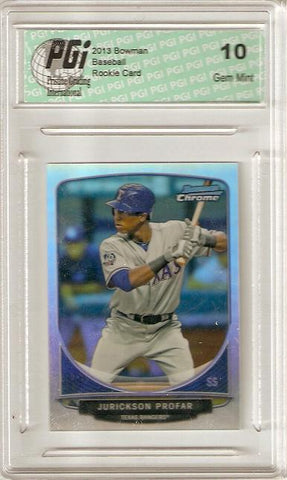 Jurickson Profar 2013 Bowman Chrome Refractor Mini SP #CC-TR1 Rookie Card PGI 10