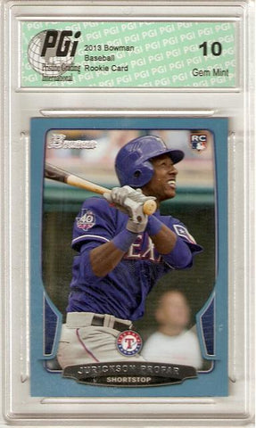 Jurickson Profar 2013 Bowman Blue #81 Only 500 Made Rookie Card PGI 10