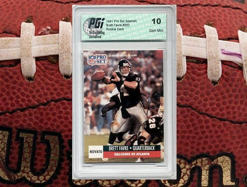 1991 Brett Favre PRO SET SPANISH Rookie Card RC PGI 10