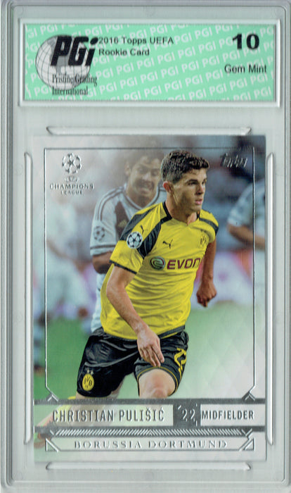 Christian Pulisic 2016 Topps UEFA Champions League #25 Rookie Card PGI 10