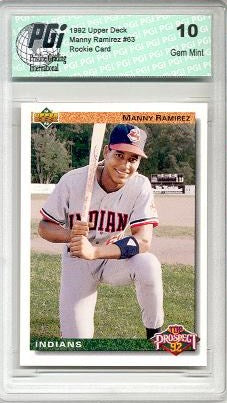 1992 Manny Ramirez Upper Deck Rookie Card PGI 10