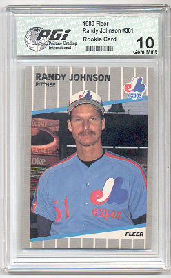 1989 Fleer Randy Johnson Rookie Card PGI 10 BIG UNIT