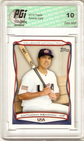Anthony Rendon 2010 Topps #USA-44 Rookie Card PGI 10