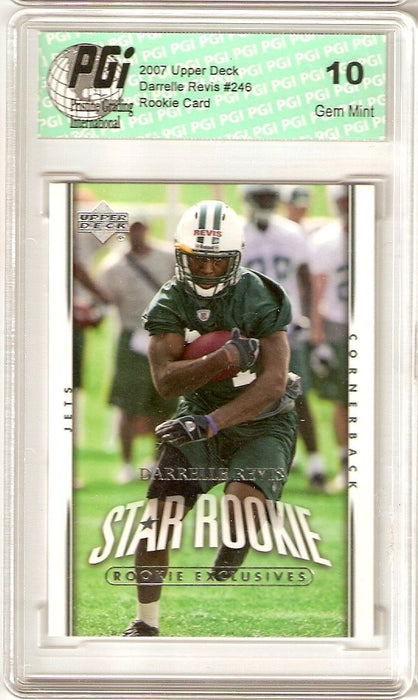 Darrelle Revis Jets 2007 Upper Deck Rookie Card PGI 10
