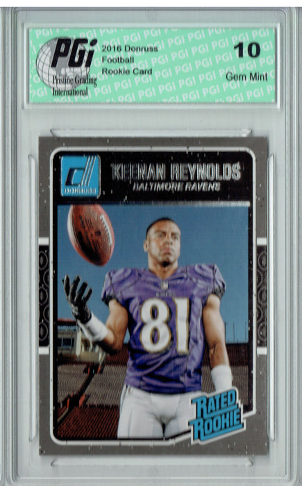 Keenan Reynolds 2016 Donruss Rated Rookie #379 SP Rookie Card PGI 10