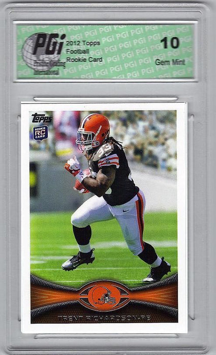 Trent Richardson Browns 2012 Topps Football #380 Rookie Card PGI 10