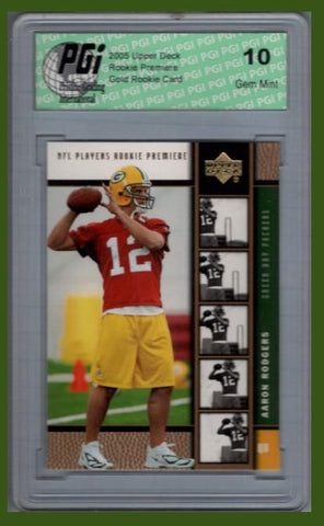 Aaron Rodgers 2005 Upper Deck GOLD Rookie Card PGI 10