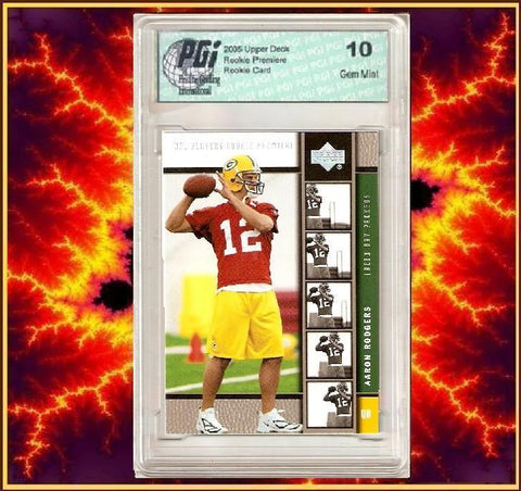 Aaron Rodgers Platinum Upper Deck Rookie Premiere Card