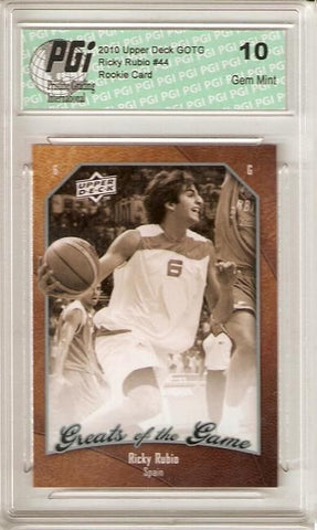 2009-10 Upper Deck Greats of the Game Ricky Rubio Rookie Card PGI 10