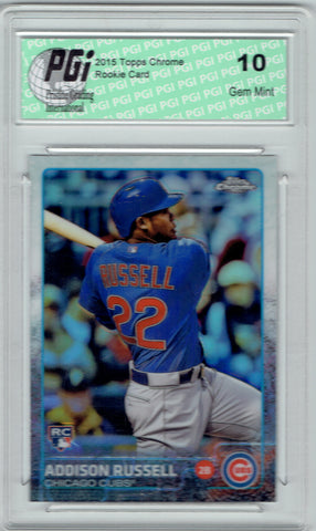 Addison Russell 2015 Topps Chrome Refractor Rookie Card #24 PGI 10