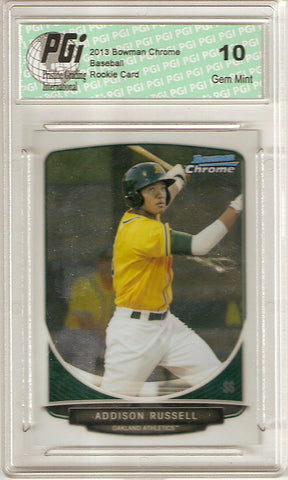 2013 Bowman Chrome Rookie Card #BCP113 Addison Russell PGI 10