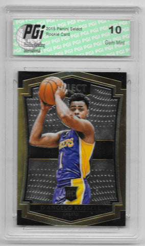 D'Angelo Russell 2015 Panini Select Rookie Card #162 PGI 10 Lakers