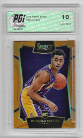 D'Angelo Russell 2015 Panini Select Orange Refractor 60 Made Rookie Card #62
