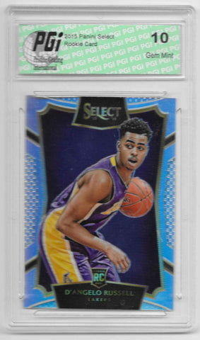 D'Angelo Russell 2015 Panini Select Refractor Rookie Card #162 PGI 10 Lakers