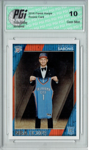 Domantas Sabonis 2016 NBA Hoops #271 Rookie Card PGI 10