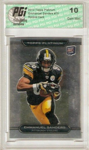 Emmanuel Sanders Pittsburgh Steelers 2010 Topps Platinum Rookie Card Graded