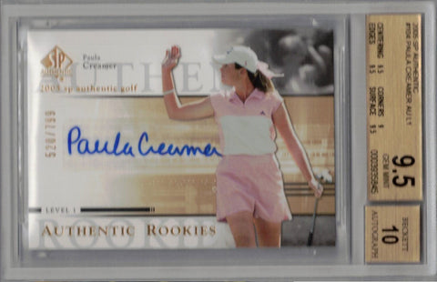 Paula Creamer 2005 SP Authentic #104 Auto Rookie Card BGS 9.5