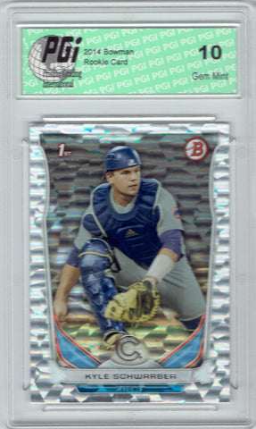 Kyle Schwarber 2014 Bowman Silver Ice #DP2 Rookie Card PGI 10 Cubs