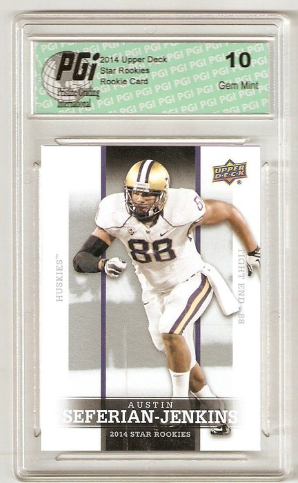 Austin Seferian-Jenkins 2014 Upper Deck #23 SP Star Rookie Card PGI 10