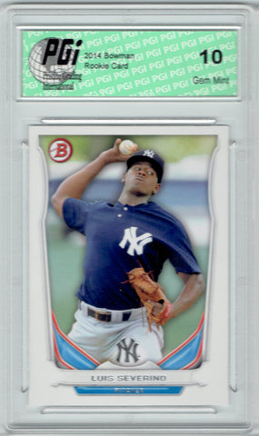 Luis Severino 2014 Bowman Baseball Rookie Card #TP-38 Yankees PGI 10
