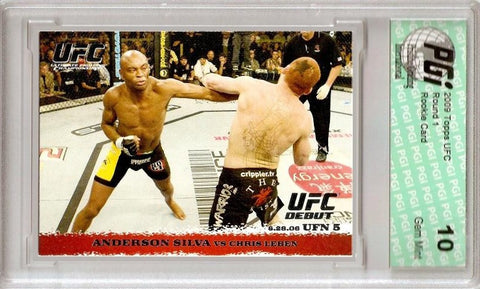 ANDERSON SILVA MMA 2009 Topps UFC Rookie Card PGI 10